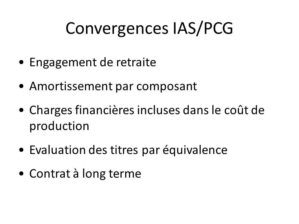 Convergences IAS/PCG Engagement de retraite
