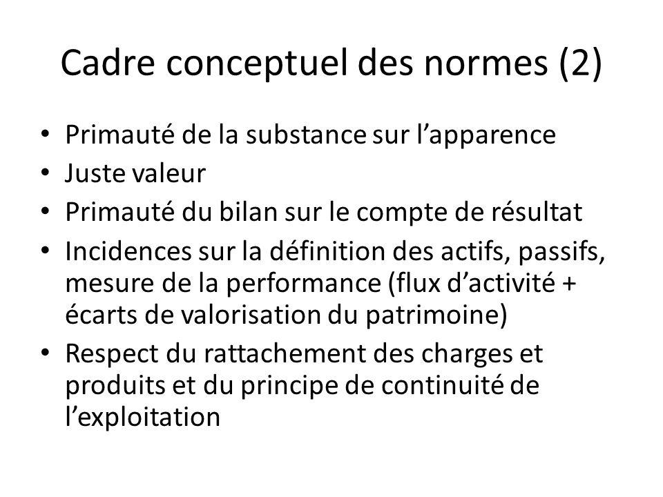 Cadre conceptuel des normes (2)