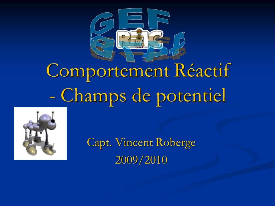 Comportement Réactif - Champs de potentiel