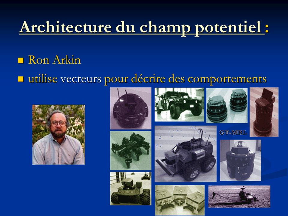 Architecture du champ potentiel :
