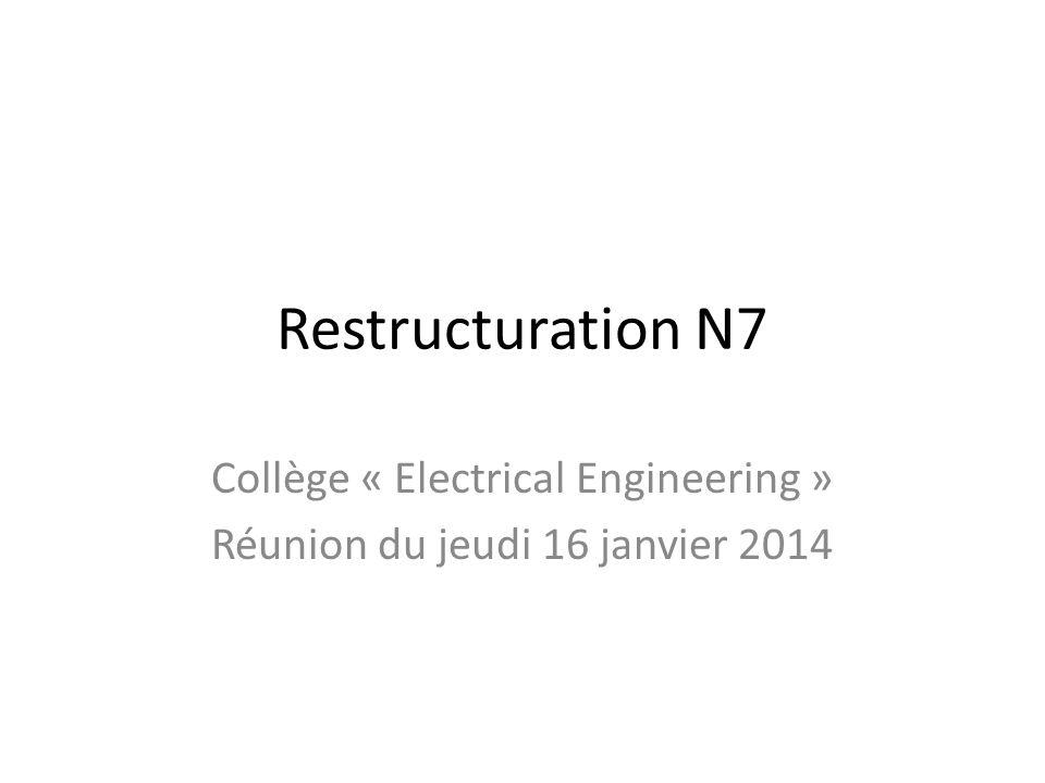 Collège « Electrical Engineering » Réunion du jeudi 16 janvier 2014