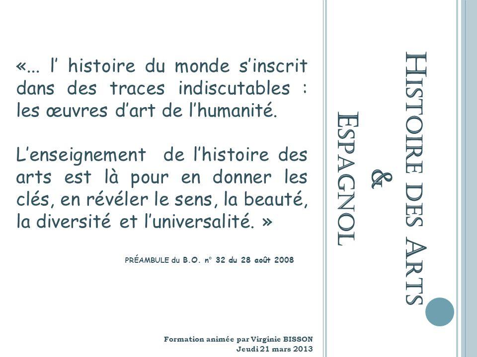 Histoire des Arts & Espagnol
