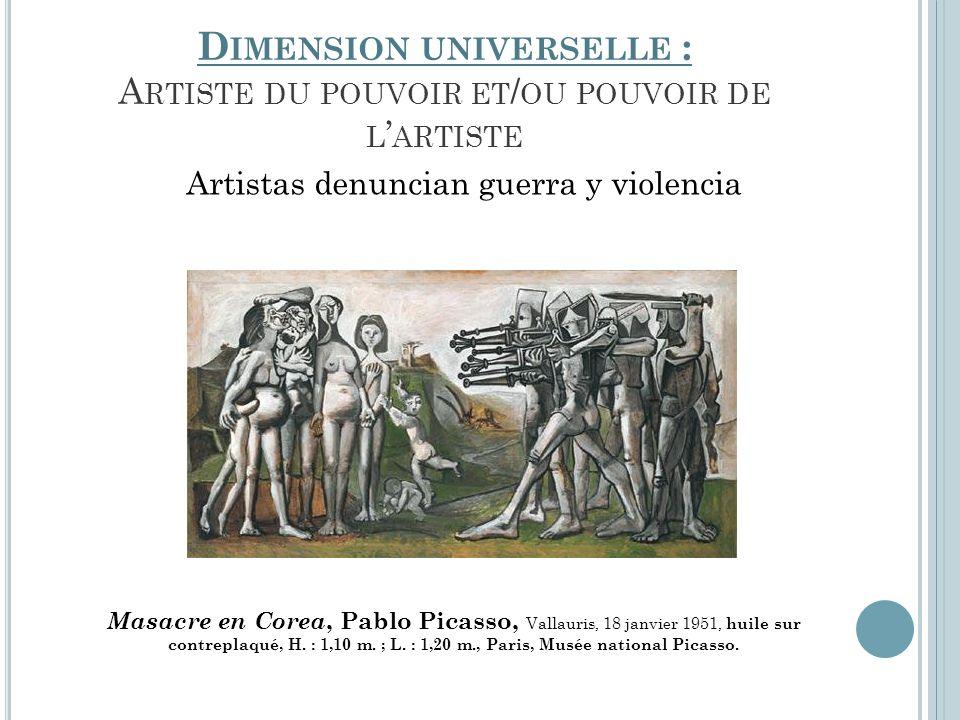 Dimension universelle : Artiste du pouvoir et/ou pouvoir de l'artiste