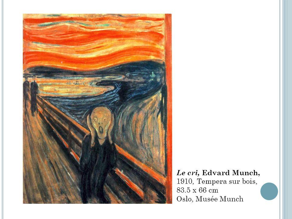 Le cri, Edvard Munch, 1910, Tempera sur bois, 83