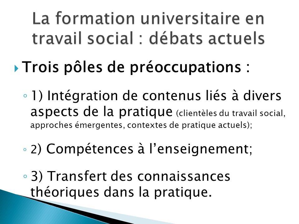 La formation universitaire en travail social : débats actuels