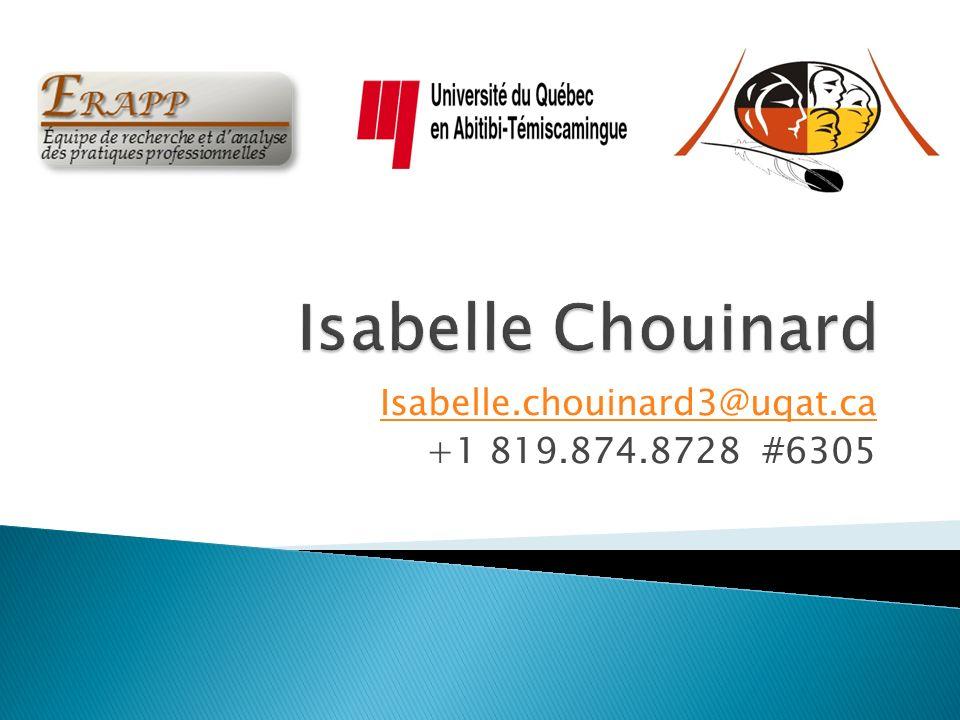 Isabelle.chouinard3@uqat.ca +1 819.874.8728 #6305