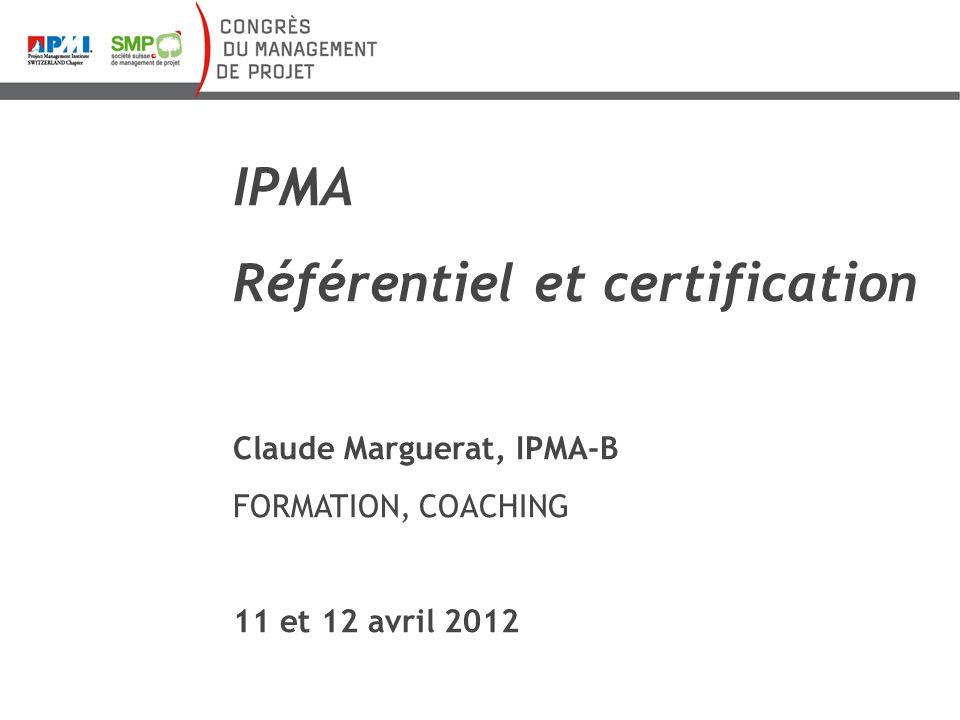 Référentiel et certification