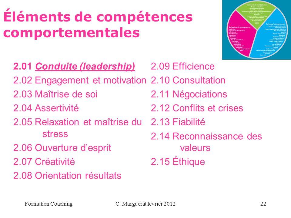 Éléments de compétences comportementales