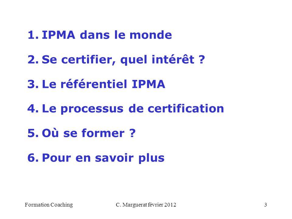 Se certifier, quel intérêt Le référentiel IPMA