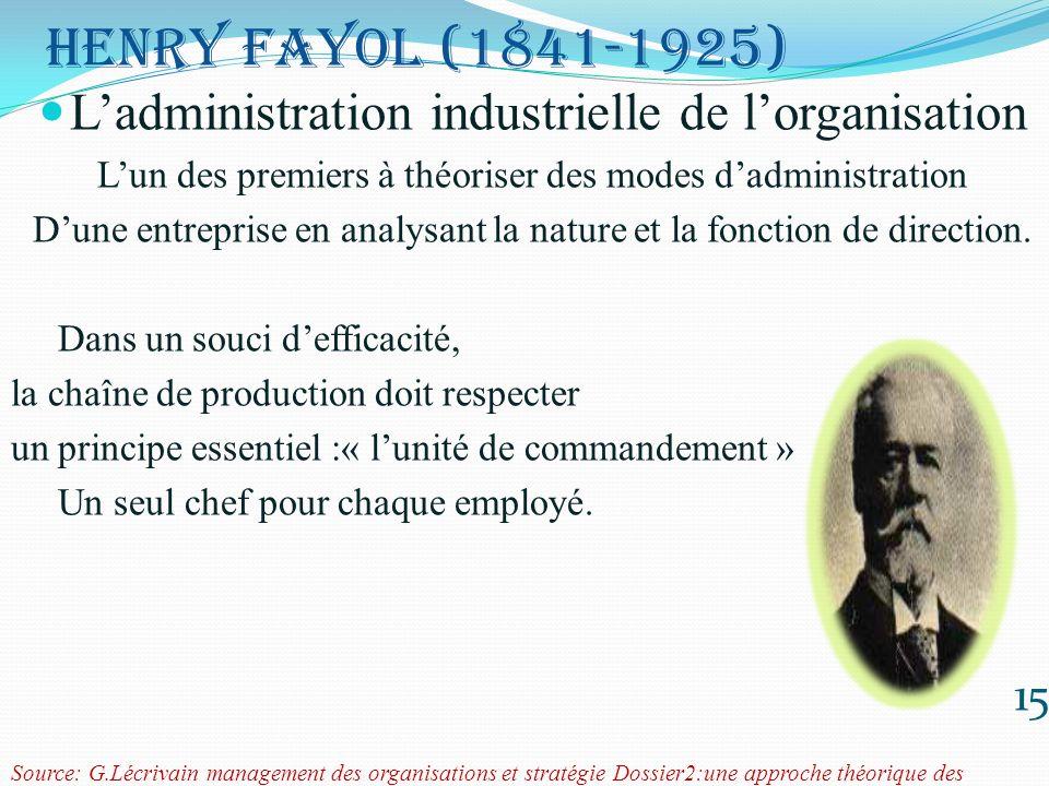 L'administration industrielle de l'organisation
