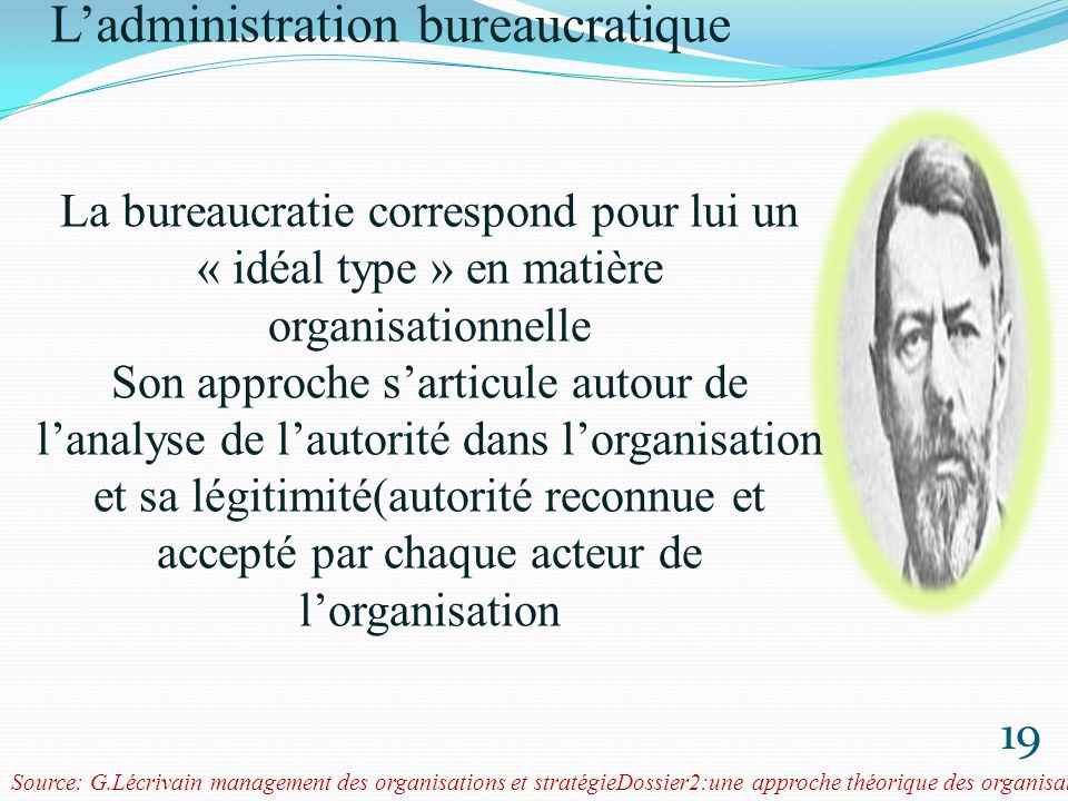 Max weber (1864-1920) L'administration bureaucratique