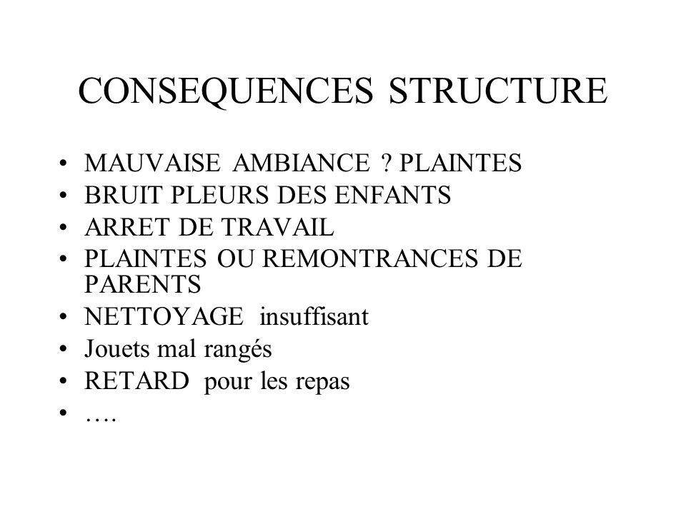 CONSEQUENCES STRUCTURE