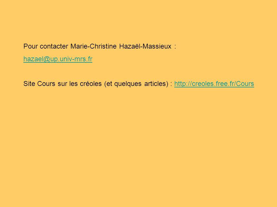 Pour contacter Marie-Christine Hazaël-Massieux :