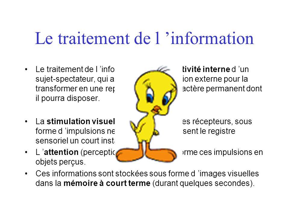 Le traitement de l 'information