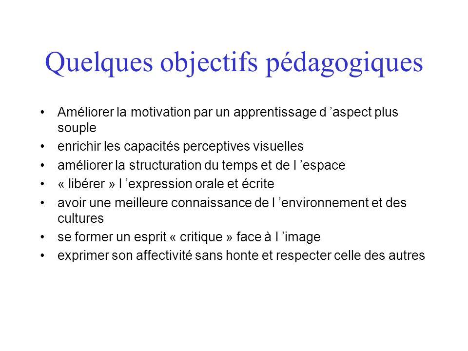Quelques objectifs pédagogiques