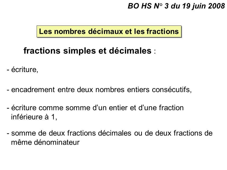 Les nombres décimaux et les fractions