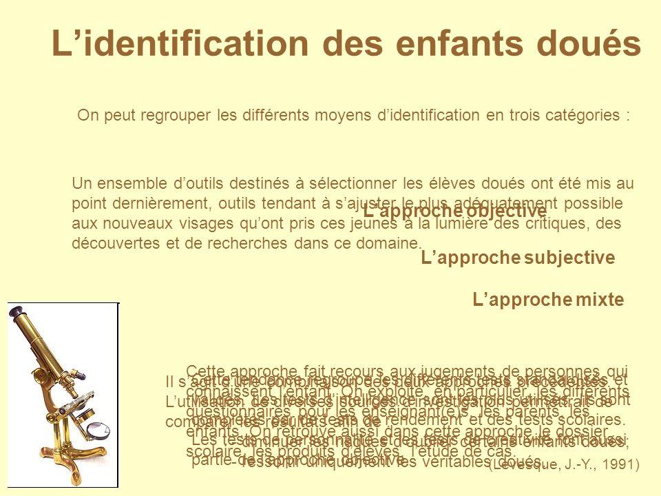 L'identification des enfants doués