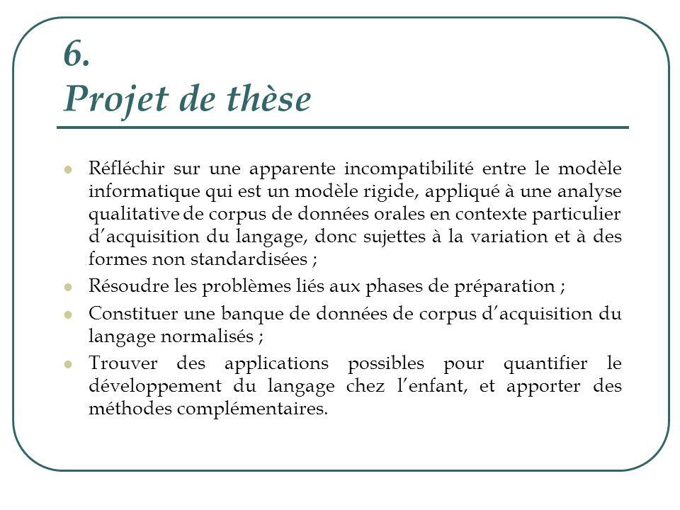 6. Projet de thèse