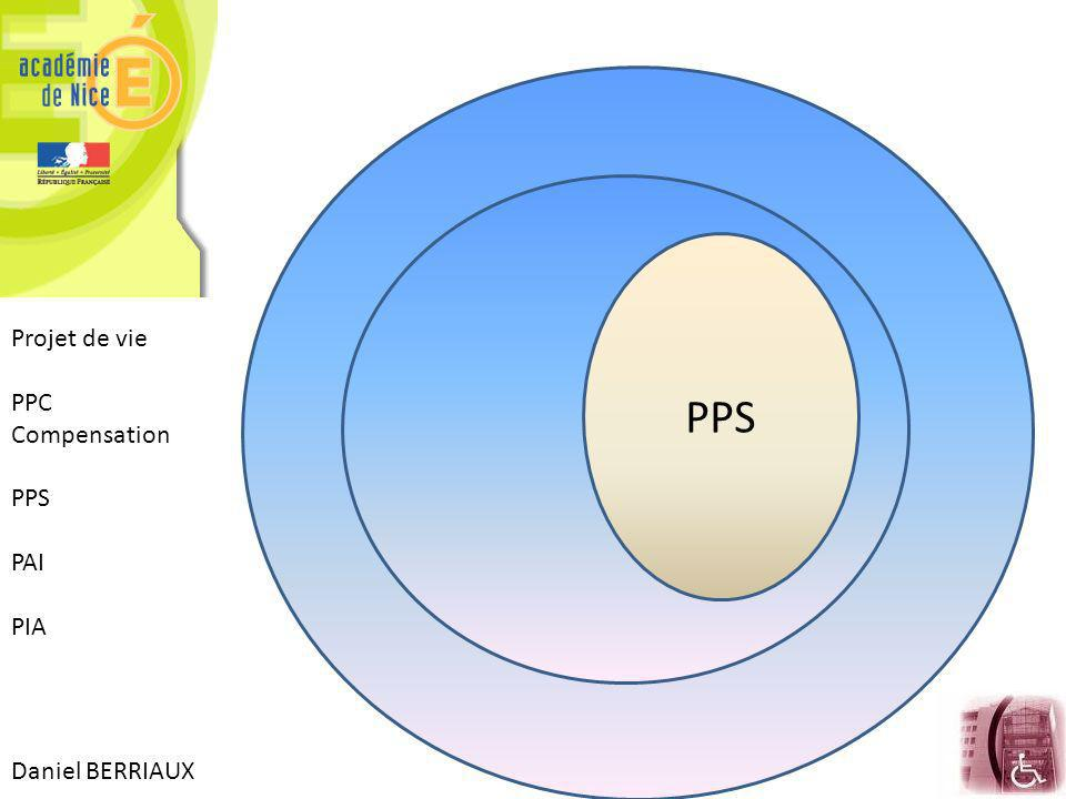 PPS Projet de vie PPC Compensation PPS PAI PIA Daniel BERRIAUX