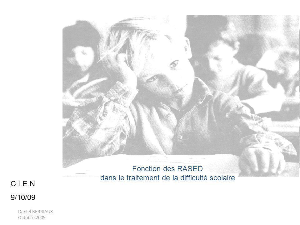 Fonction des RASED dans le traitement de la difficulté scolaire