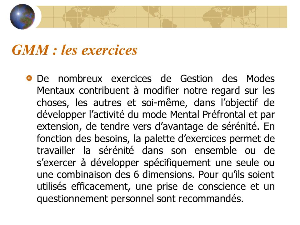 GMM : les exercices