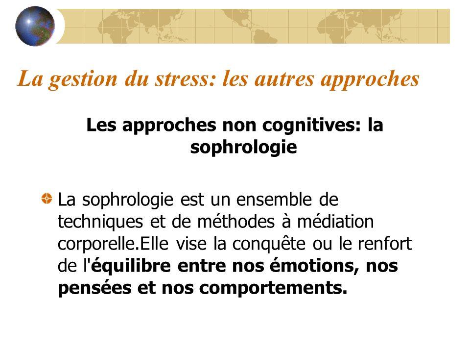 La gestion du stress: les autres approches