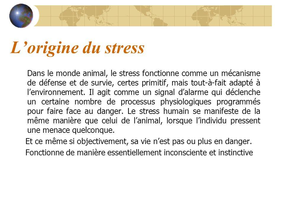 L'origine du stress