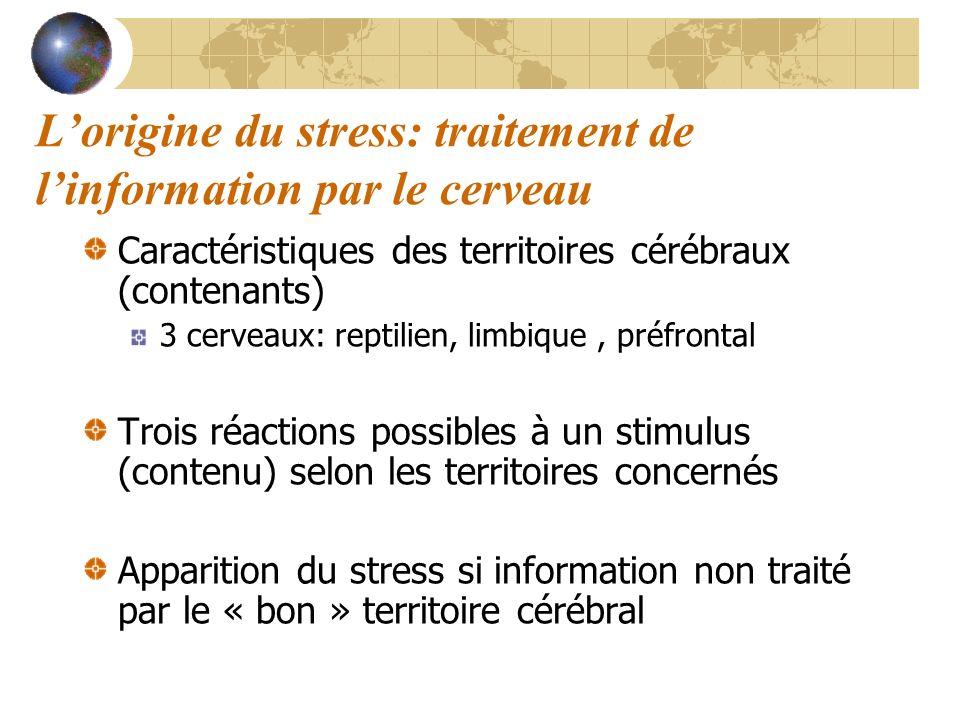 L'origine du stress: traitement de l'information par le cerveau