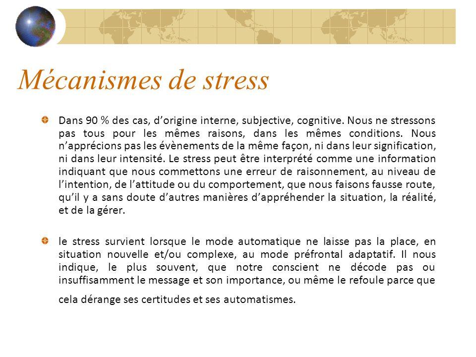 Mécanismes de stress