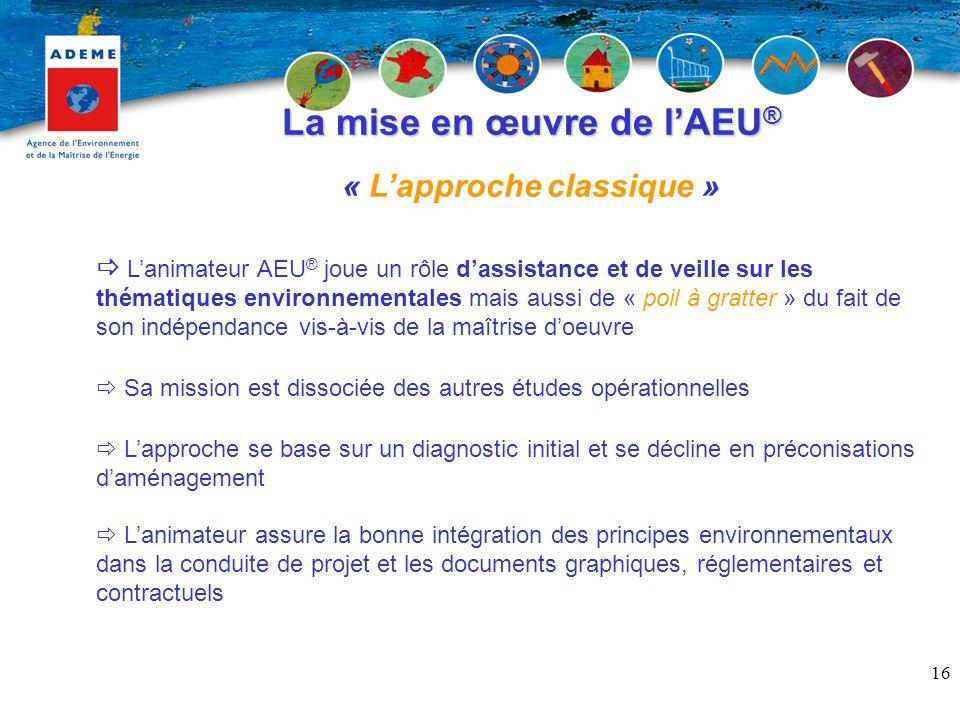 La mise en œuvre de l'AEU® « L'approche classique »