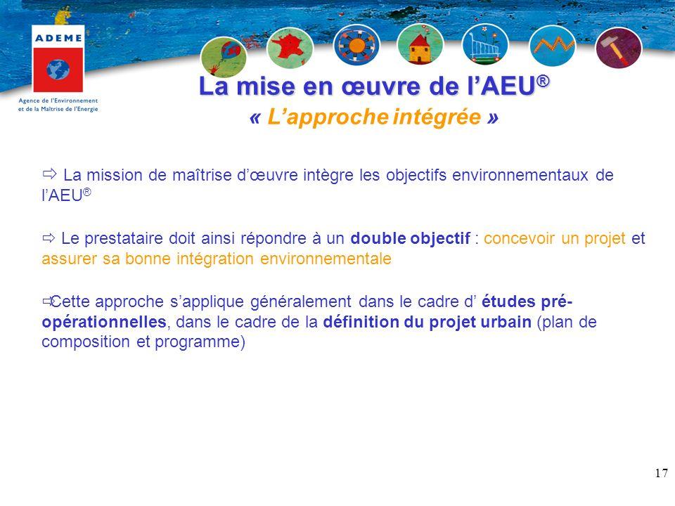 La mise en œuvre de l'AEU® « L'approche intégrée »