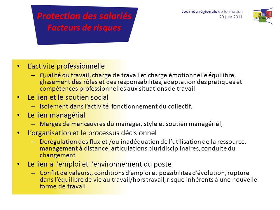 Protection des salariés