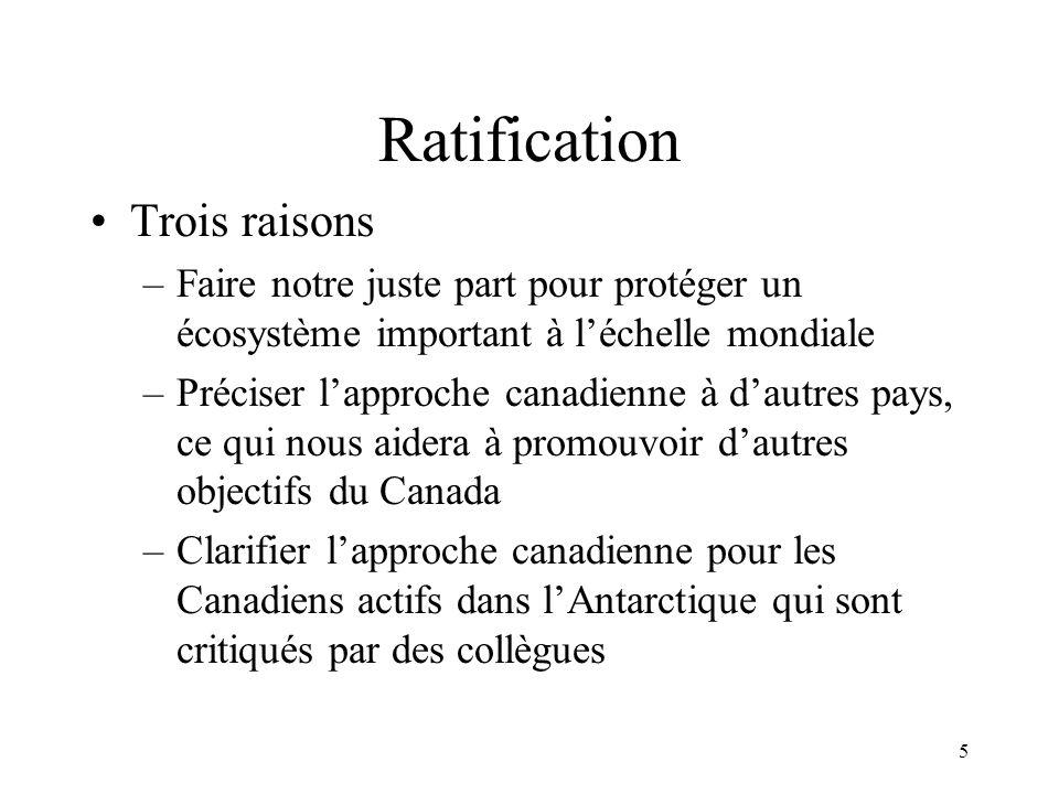 Ratification Trois raisons