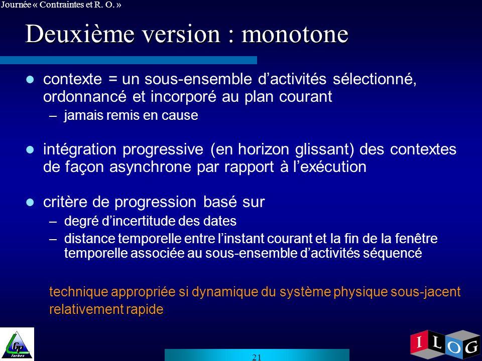 Deuxième version : monotone