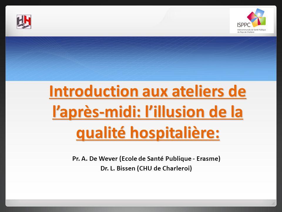 Introduction aux ateliers de l'après-midi: l'illusion de la qualité hospitalière: