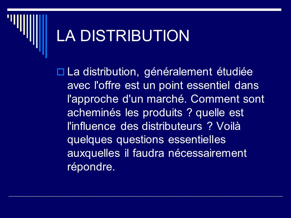 LA DISTRIBUTION