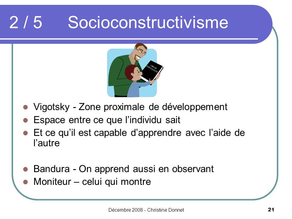 2 / 5 Socioconstructivisme
