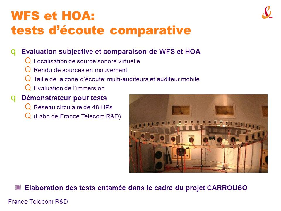 WFS et HOA: tests d'écoute comparative