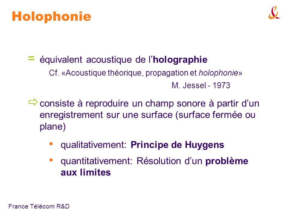 Holophonie équivalent acoustique de l'holographie