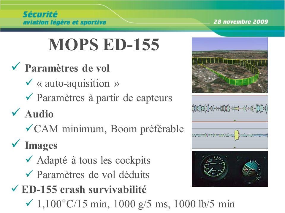 MOPS ED-155 Paramètres de vol Audio Images « auto-aquisition »