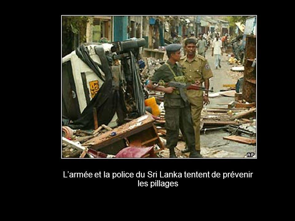 L'armée et la police du Sri Lanka tentent de prévenir les pillages