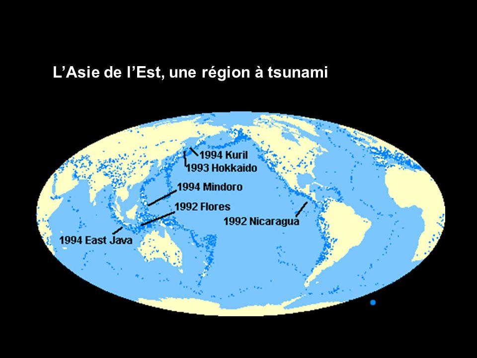 L'Asie de l'Est, une région à tsunami