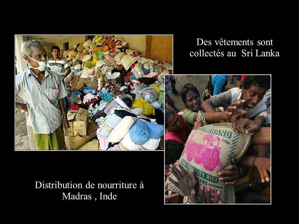 Des vêtements sont collectés au Sri Lanka