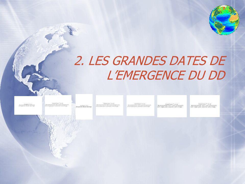 2. LES GRANDES DATES DE L'EMERGENCE DU DD
