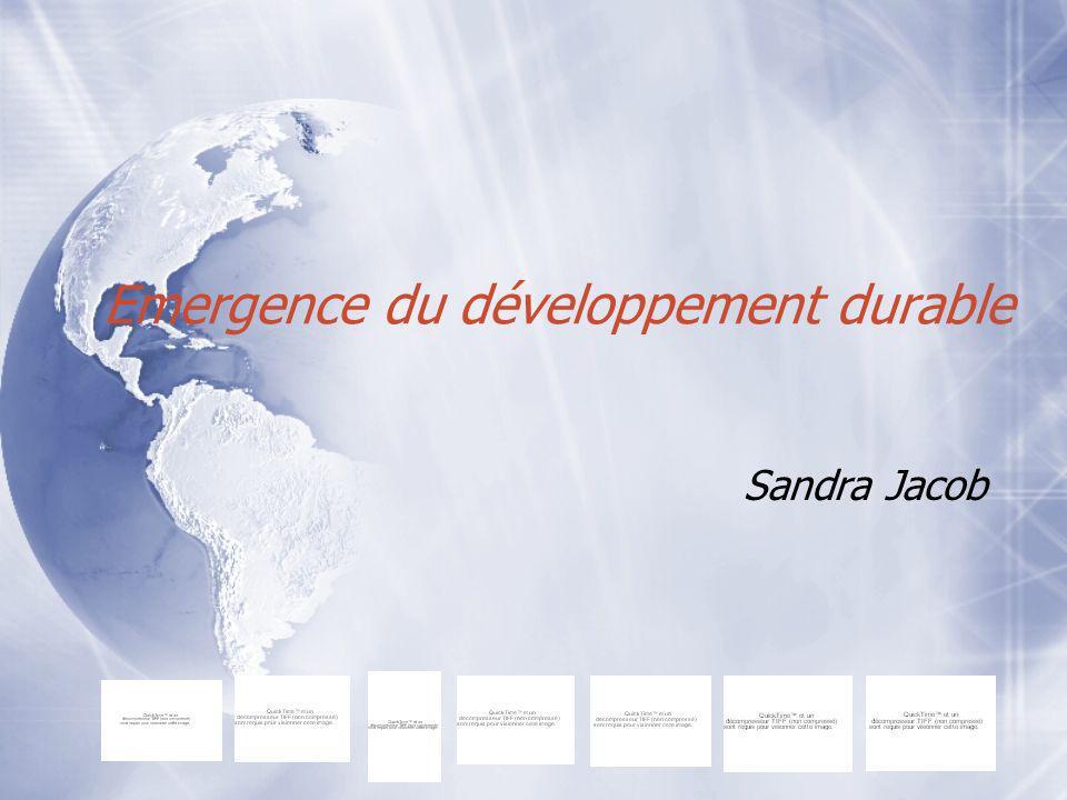 Emergence du développement durable