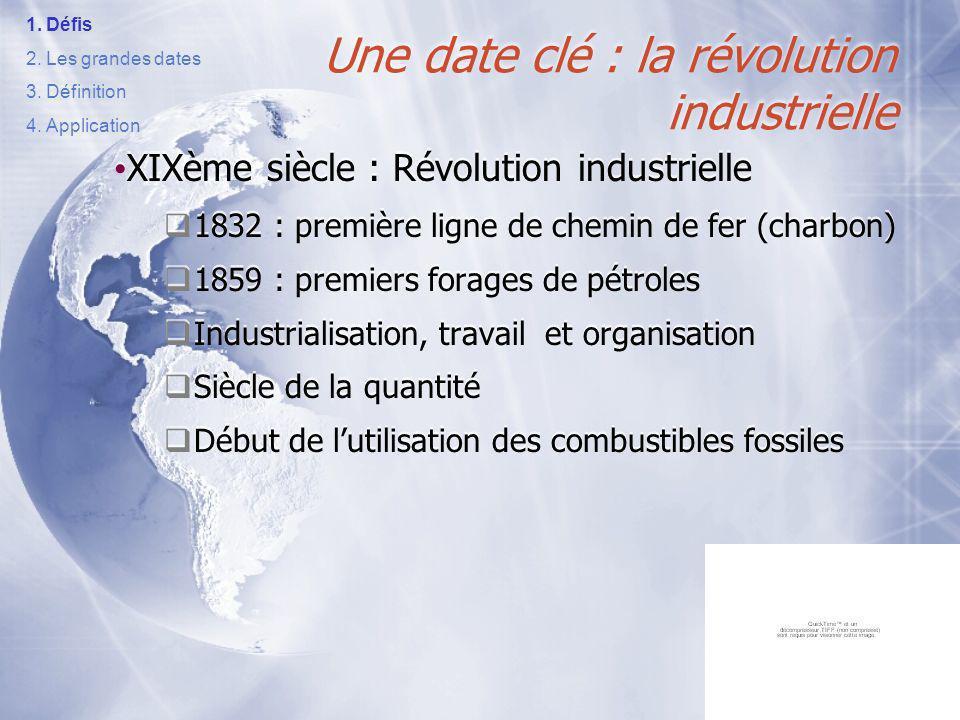 Une date clé : la révolution industrielle