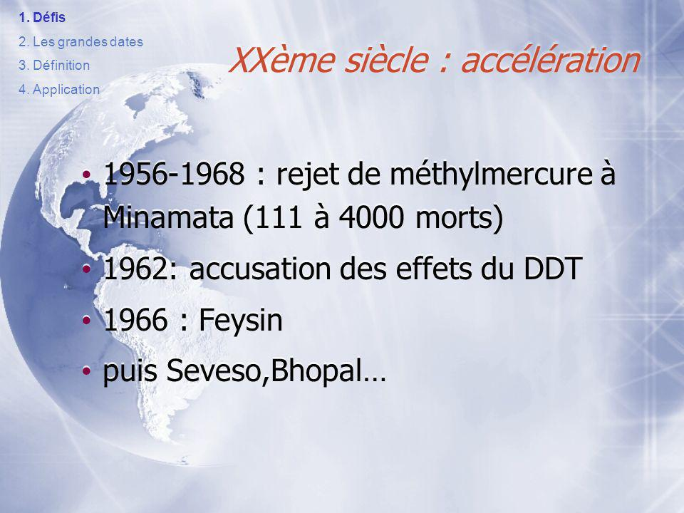 XXème siècle : accélération