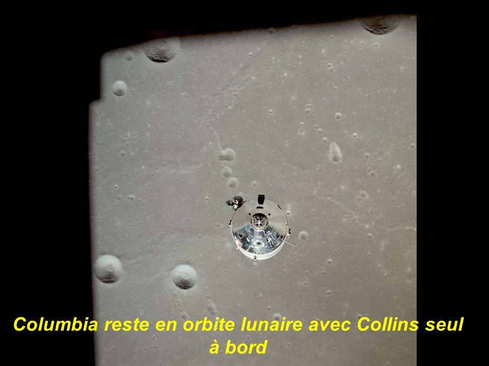 Columbia reste en orbite lunaire avec Collins seul à bord
