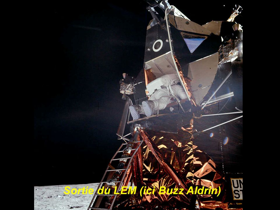 Sortie du LEM (ici Buzz Aldrin)