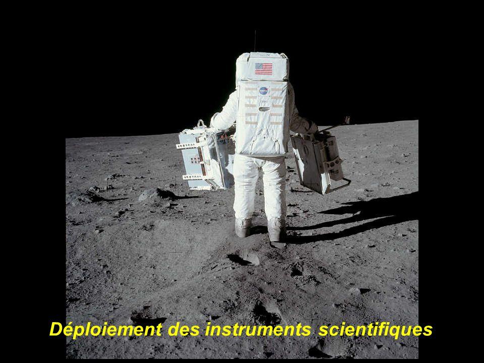 Déploiement des instruments scientifiques